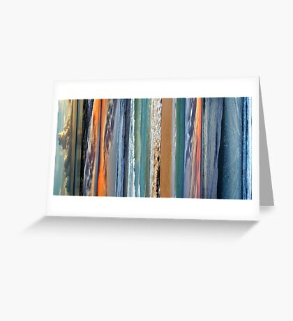 Abstract Beach Greeting Card