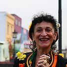 Women smile in Camden town by cheburashka