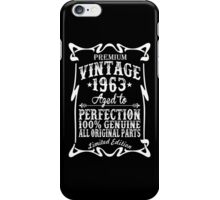 Premium Vintage 1963 Aged To Perfection 100% Genuine All Original Parts Limited Edition iPhone Case/Skin