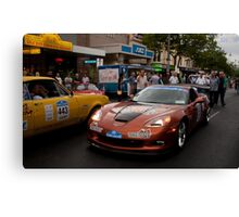 Gouger St Street Party, Classic Adelaide Car Rally Canvas Print