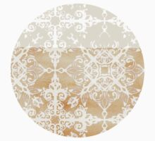 White Doodle Pattern on Sepia Ink Kids Clothes