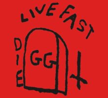 GG Allin Live Fast Die Tattoo (big version) Baby Tee