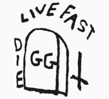 GG Allin Live Fast Die Tattoo (big version) by GuitarManArts