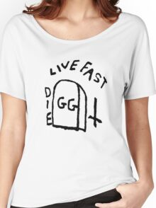 GG Allin Live Fast Die Tattoo (big version) Women's Relaxed Fit T-Shirt