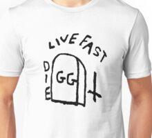 GG Allin Live Fast Die Tattoo (big version) Unisex T-Shirt