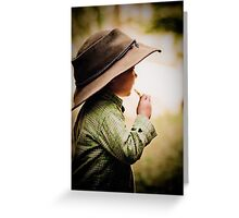 ...her daddy's hat... Greeting Card