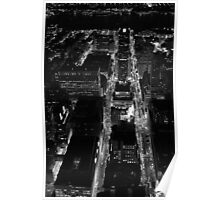 A night view of Manhattan Poster