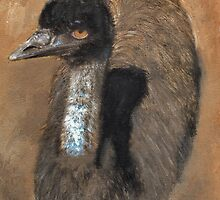 Curious Emu 1 by Julie  Sutherland