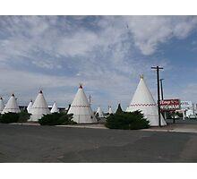 Wigwam Motel on Route 66, Holbrook, USA. Photographic Print