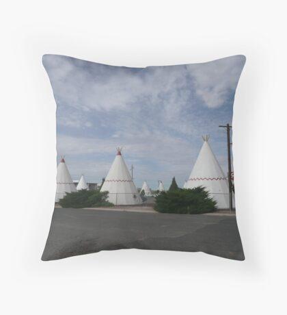 Wigwam Motel on Route 66, Holbrook, USA. Throw Pillow