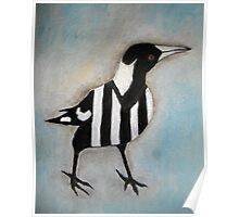 Magpie Looking Right Poster