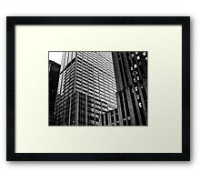 b&w skyscraper Framed Print