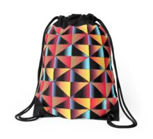 Colorful triangles Drawstring Bag