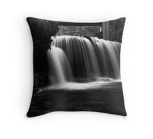 Waterfall at Rice Dam Throw Pillow