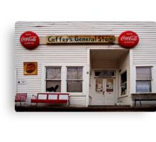 Coffey's General Store Canvas Print