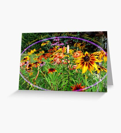 A Riot of Colours Greeting Card