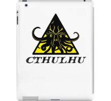 Warning Cthulhu hazard iPad Case/Skin
