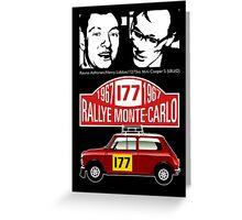 Mini Cooper Rallye Monte Carlo 1967 Greeting Card
