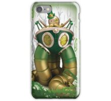 Mr Pumfrey and his Astounding Mechanised Perambulator (Spring Version) iPhone Case/Skin
