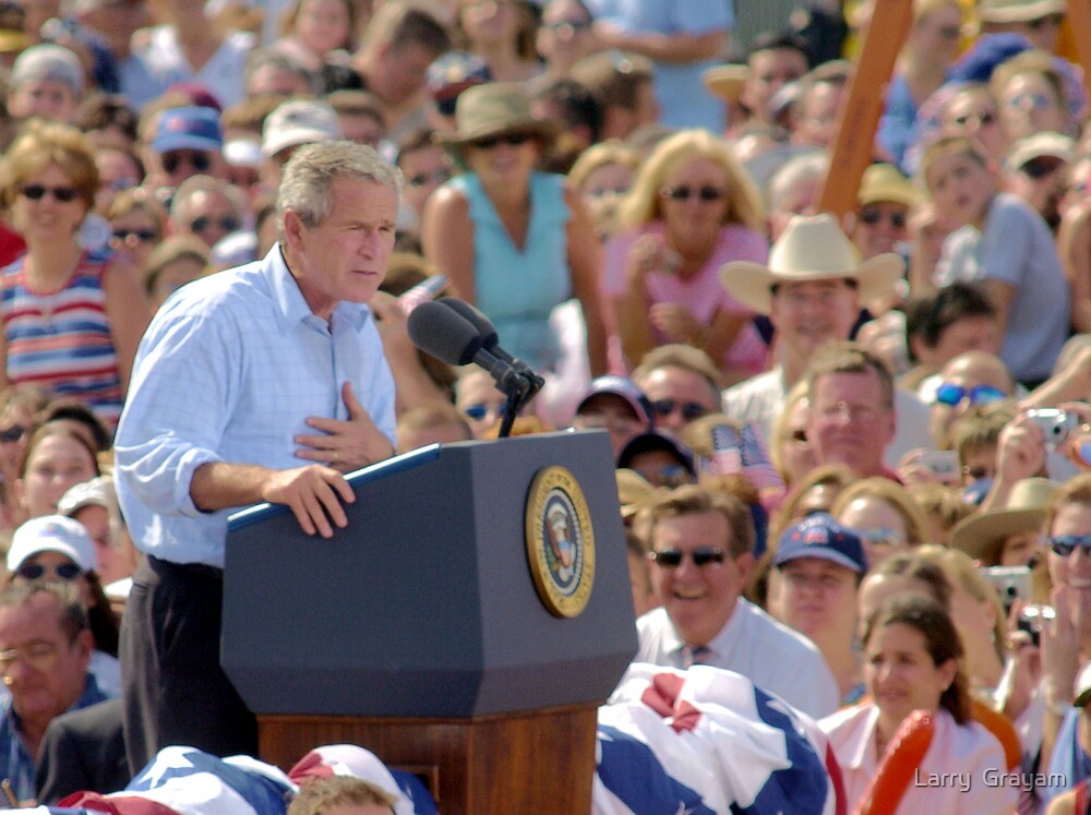 President GW Bush by Larry  Grayam
