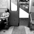 Subway BW by Larry  Grayam