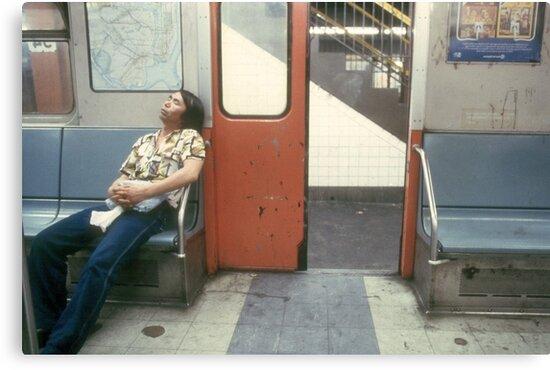 NY Subway by Larry  Grayam