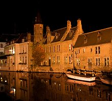 Canal in Brugge (Belgium)  by Antanas