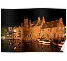 Canal in Brugge (Belgium)  Poster