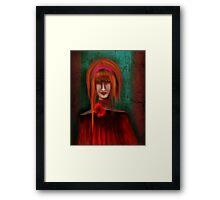 A Redhead Portrait Framed Print