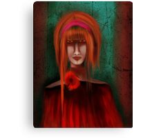 A Redhead Portrait Canvas Print