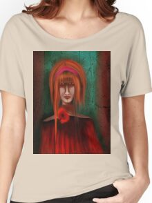 A Redhead Portrait Women's Relaxed Fit T-Shirt