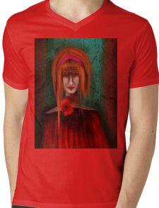 A Redhead Portrait Mens V-Neck T-Shirt