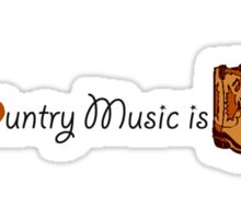 Country Music is Love Sticker
