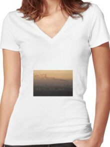 Pollution Women's Fitted V-Neck T-Shirt