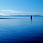 Breakwater Lighthouse North - Burlington, VT - with the Adirondacks  by PASpencer
