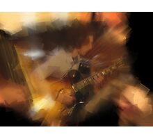 chris playing the guitar Photographic Print