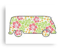 VW Camper - Hibiscus Print Canvas Print