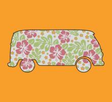 VW Camper - Hibiscus Print by Iceyuk