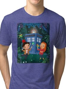 THE DOCTOR IN WHONDERLAND Tri-blend T-Shirt