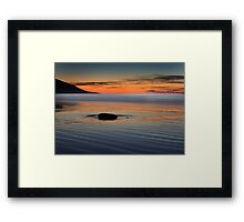 Sunset rock,Rossbeight Framed Print