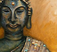 Om Shanti with Gold  by Gayle Utter