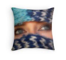 Dreamer eyes Throw Pillow