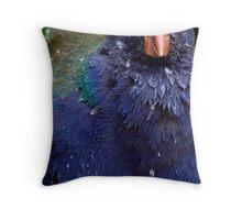 Takahe Splash Throw Pillow