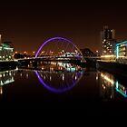 Clyde arc bridge at night by Grant Glendinning