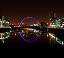 Clyde arc bridge at night by Photo Scotland