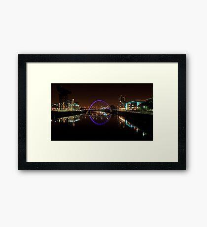 Clyde arc bridge at night Framed Print