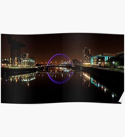 Clyde arc bridge at night Poster