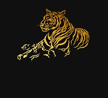 Gold Tiger Mens V-Neck T-Shirt