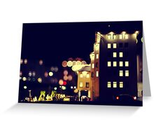 City Lights. Greeting Card