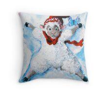 Snow Angel Throw Pillow